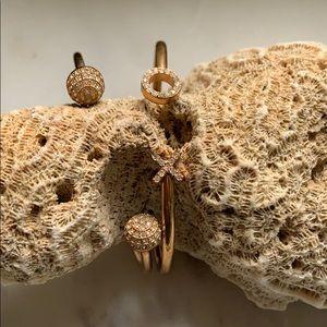 Fossil Rose Gold Stackable Bracelets